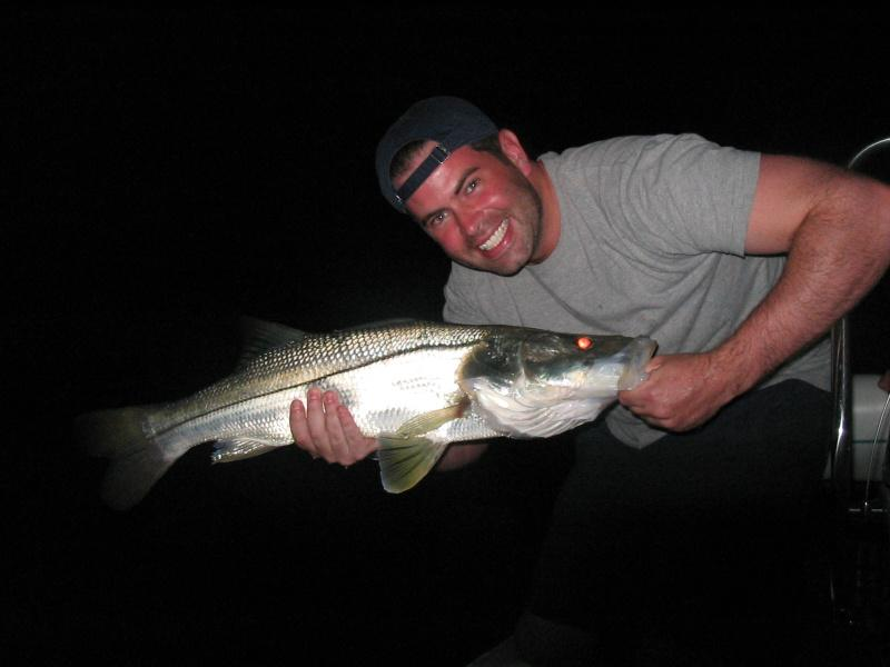 Giant Ft Myers Snook Caught Night Fishing